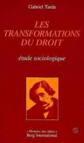 Les Transformations Du Droit - Couverture - Format classique