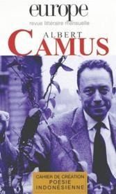 Revue Europe t.846 ; Albert Camus - Couverture - Format classique