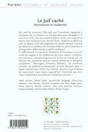 Pardes n.29 ; le juif cache ; marranisme et modernite - 4ème de couverture - Format classique