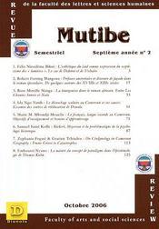 Mutibe ; septieme année n.2 ; octobre 2006 - Intérieur - Format classique