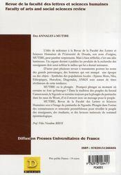 Mutibe ; septieme année n.2 ; octobre 2006 - 4ème de couverture - Format classique