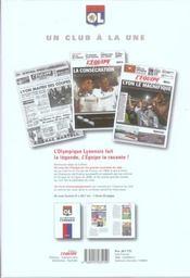 L'olympique lyonnais, un club a la une - 4ème de couverture - Format classique