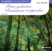 Vente livre :  Fêtes galantes ; romances sans paroles  - Paul Verlaine