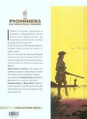Les pionniers du nouveau monde t.1 ; le pilori - 4ème de couverture - Format classique