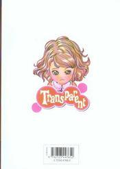 Transparent t.5 - 4ème de couverture - Format classique