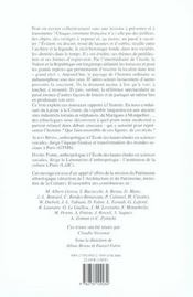 Une Histoire A Soi ; Figurations Du Passe Et Localites - 4ème de couverture - Format classique