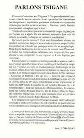Parlons tsigane ; histoire, culture et langue du peuple tsigane - 4ème de couverture - Format classique