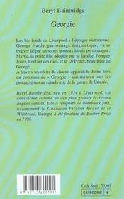 Georgie - 4ème de couverture - Format classique