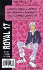 Royal 17 T.1 - 4ème de couverture - Format classique