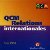 Qcm relations internationales - Couverture - Format classique