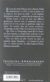 Les jeux du plaisir et de la volupté - 4ème de couverture - Format classique