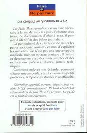 Petits Maux Quotidiens - 4ème de couverture - Format classique