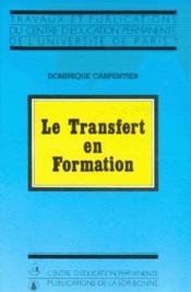 Le transfert en formation - Couverture - Format classique