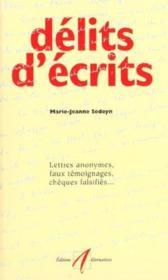 Delits D'Ecrits - Couverture - Format classique