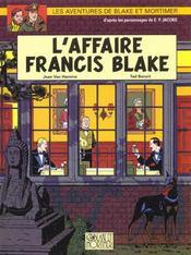 Blake Et Mortimer T.13 ; L'Affaire Francis Blake - Intérieur - Format classique