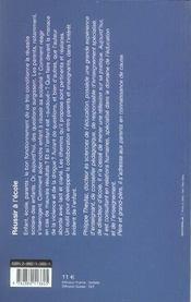 Reussir A L'Ecole - 4ème de couverture - Format classique