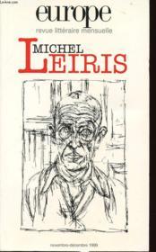 Revue Europe N.847 ; Michel Leiris - Couverture - Format classique