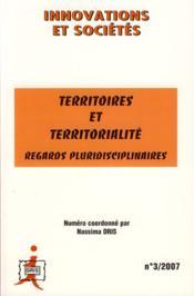 Territoires et territorialité ; regards pluridisciplinaires - Couverture - Format classique
