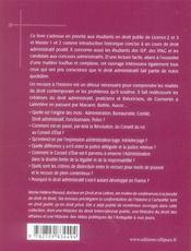 Histoire Du Droit Administratif - 4ème de couverture - Format classique