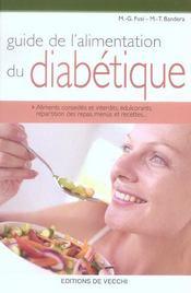Guide de l'alimentation du diabetique - Intérieur - Format classique