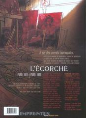 Secrets, l'écorché t.1 - 4ème de couverture - Format classique