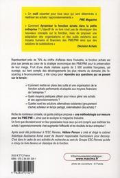 Guide pratique fonction achats et approvisionnements en PME (4e édition) - 4ème de couverture - Format classique