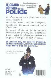 Le Grand Betisier De La Police - 4ème de couverture - Format classique