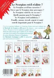 Les mini-guides en bd t.28 ; le mini-guide astro du scorpion - 4ème de couverture - Format classique