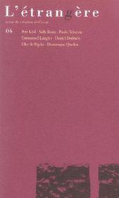 Revue L'Etrangere T.6 - Intérieur - Format classique