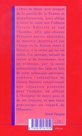 La Verite Sur Cesare Battisti - 4ème de couverture - Format classique