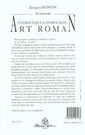 Dictionnaire De L'Art Roman - Nvelle Ed. - 4ème de couverture - Format classique