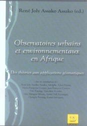 Observatoires urbains et environnementaux en afrique - Couverture - Format classique