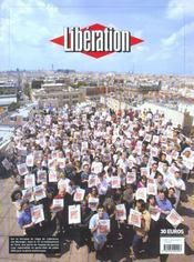 Liberation, 1973-2003 ; Almanach Des 30 Ans - 4ème de couverture - Format classique