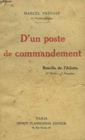 D'Un Poste De Commandement. - Couverture - Format classique