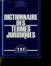 Dictionnaire Termes Juridiques - Couverture - Format classique