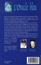 L'oracle bleu - 4ème de couverture - Format classique