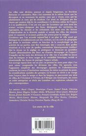 Les Divisions De La Ville - 4ème de couverture - Format classique