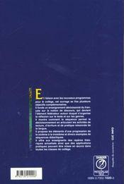 L'Enseignement Du Francais Au College - 4ème de couverture - Format classique