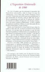 L'Exposition Universelle De 1900 - 4ème de couverture - Format classique