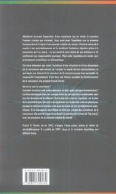 Structure De La Conscience Et La Seconde Creation Du Monde - 4ème de couverture - Format classique