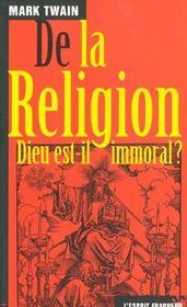 De La Religion - 4ème de couverture - Format classique