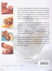 Massage des mains et des pieds - 4ème de couverture - Format classique