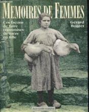 Memoires De Femmes - Couverture - Format classique