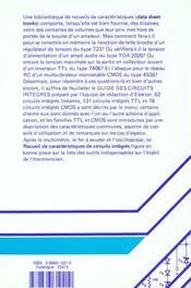 Guide Des Circuits Integre - 4ème de couverture - Format classique