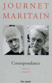 Correspondance Journet-Maritain, Volume Iv - Couverture - Format classique
