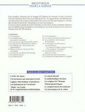 Fossiles Temoins Evoluti - 4ème de couverture - Format classique