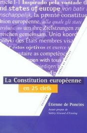 La constitution europeenne en 25 cles - Intérieur - Format classique