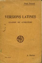 Versions Latines. Classe De Cinquieme. - Couverture - Format classique