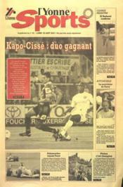 Yonne Sports N°191 du 20/08/2001 - Couverture - Format classique