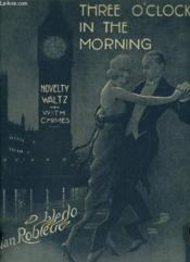 Three O'Clock In The Morning - Novelty Waltz - Piano. - Couverture - Format classique